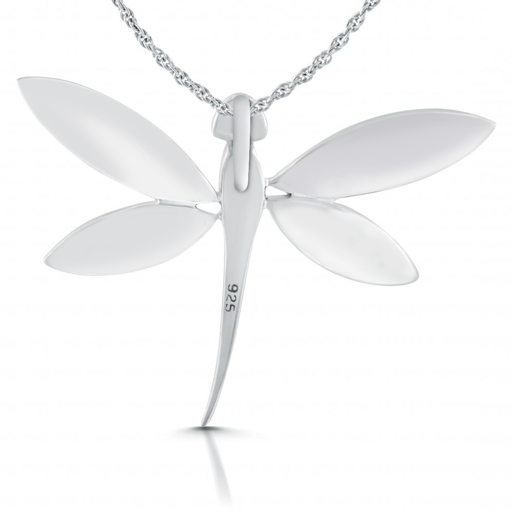 Dragonfly Necklace Paua Shell Amp 925 Sterling Silver